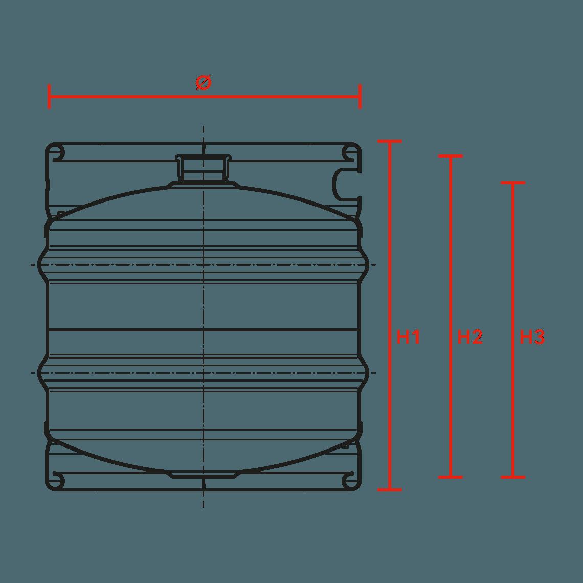 individual stainless steel keg